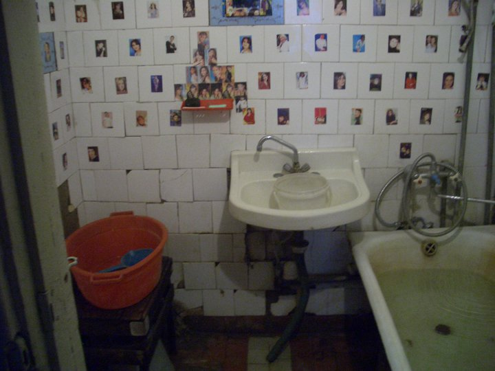 bathroom in my art studio in baku